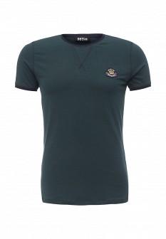 Мужская зеленая осенняя домашняя футболка