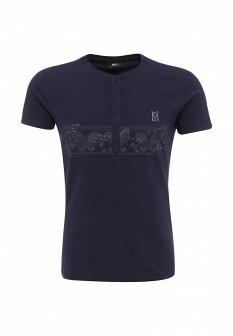 Мужская синяя итальянская осенняя домашняя футболка