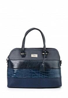 Женская синяя кожаная сумка David Jones
