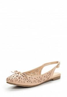 Женские бежевые кожаные туфли