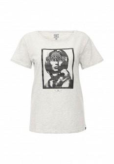 Женская серая футболка DC Shoes