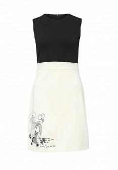 Белое черное платье Desigual