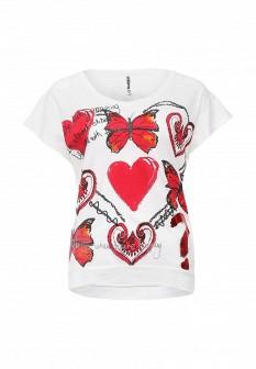 Женская белая футболка Desigual