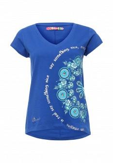 Женская синяя футболка Desigual