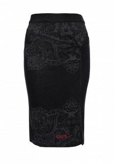 Черная испанская осенняя юбка