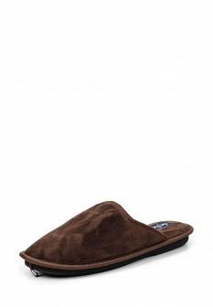 Мужские коричневые осенние текстильные тапочки