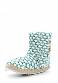 Женские белые голубые осенние текстильные тапочки