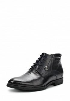 Мужские синие осенние классические кожаные ботинки