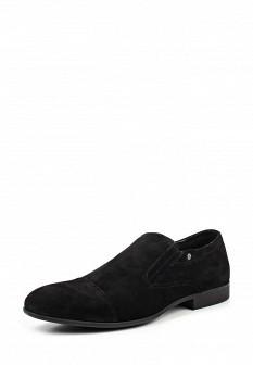 Мужские черные туфли лоферы Dino Ricci