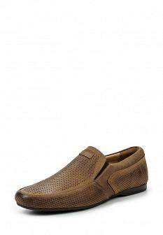 Мужские коричневые испанские туфли лоферы