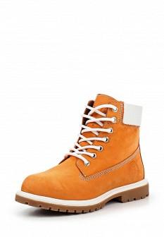 Женские оранжевые испанские осенние ботинки из нубука