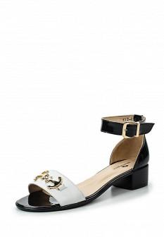 Женские белые черные сандалии на каблуке с высоким голенищем