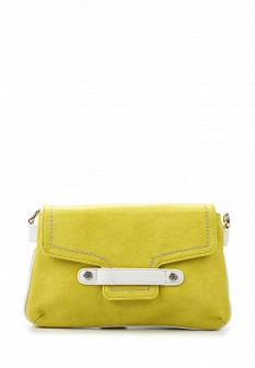 Женская желтая кожаная сумка