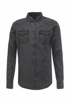 Мужская серая джинсовая рубашка
