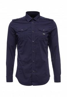 Мужская синяя фиолетовая рубашка