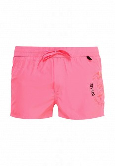 Мужские розовые шорты Diesel