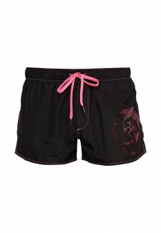 Мужские розовые черные шорты