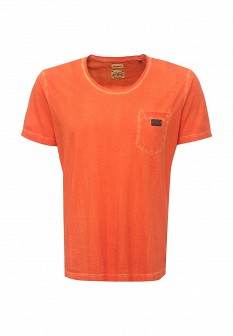 Мужская оранжевая футболка Diesel