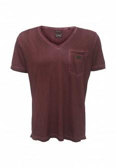 Мужская бордовая футболка Diesel
