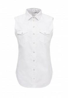Женская белая джинсовая рубашка