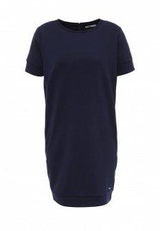 Синее осеннее платье Drywash