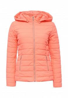 Женская утепленная осенняя коралловая куртка