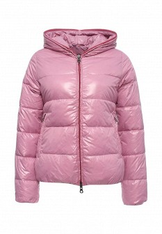Женский розовый осенний пуховик