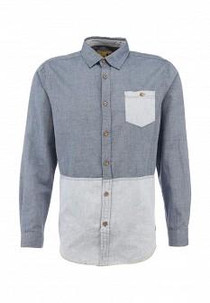 Мужская серая синяя осенняя рубашка