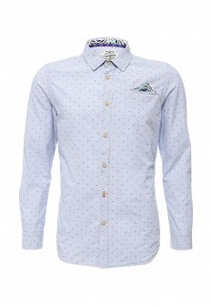 Мужская голубая рубашка E-BOUND