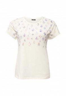 Женская бежевая футболка Elena Miro