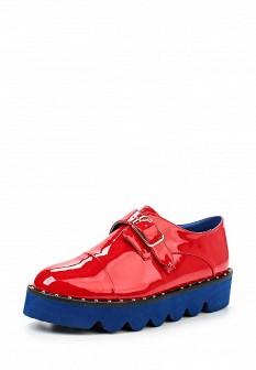Женские красные осенние ботинки на каблуке на платформе
