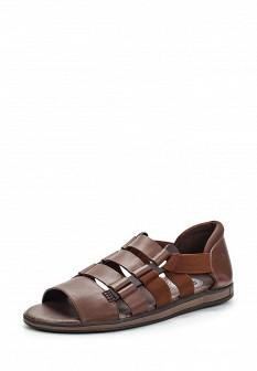 Мужские коричневые кожаные сандалии