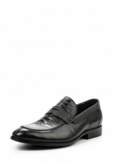 Мужские черные кожаные туфли лоферы