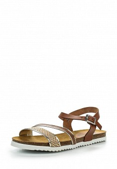 Женские коричневые испанские кожаные сандалии