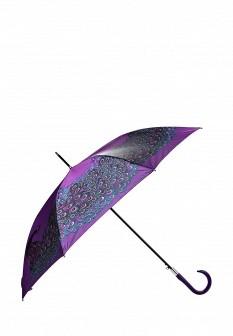 Женский фиолетовый осенний зонт трость