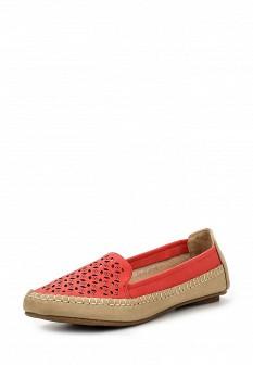 Женские красные кожаные туфли лоферы