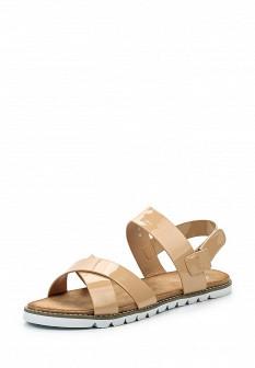 Женские бежевые кожаные сандалии