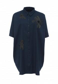Синее осеннее платье Eleven Paris