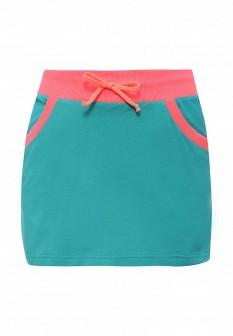 Бирюзовая осенняя юбка