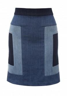 Синяя осенняя юбка Escada Sport