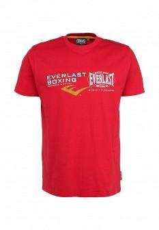 Мужская красная осенняя футболка