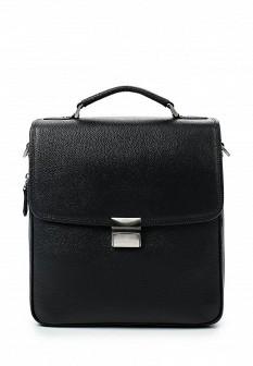 Мужская черная итальянская кожаная сумка