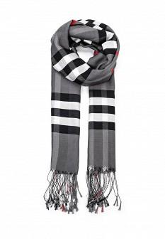 Женский серый итальянский осенний летний шарф