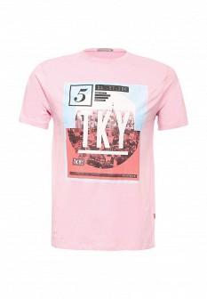 Мужская розовая футболка