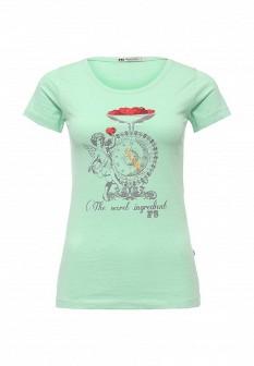 Женская зеленая футболка F5