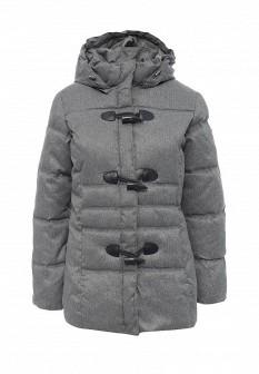 Женская серая утепленная осенняя куртка