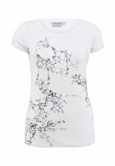 Женская белая футболка Finn Flare