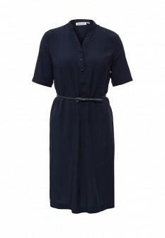 Синее осеннее платье