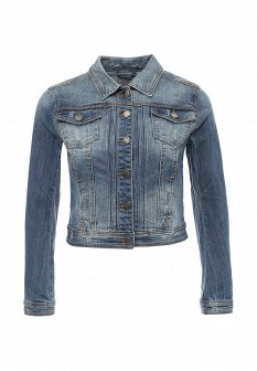 Женская синяя осенняя джинсовая куртка