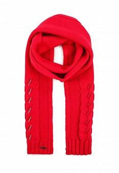 Женский красный осенний шарф